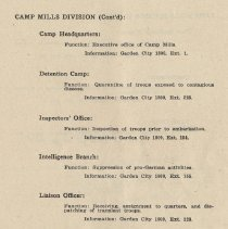 Image of pg 61: Camp Mills Division