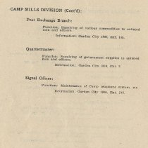 Image of pg 62: Camp Mills Division