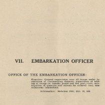 Image of pg 63: VII. Embarkation Officer