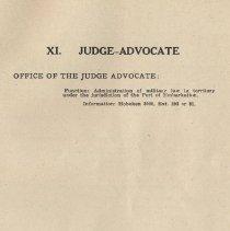 Image of pg 71: XI. Judge Advocate