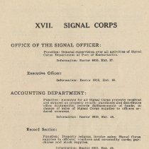 Image of pg 97: XVII. Signal Corps