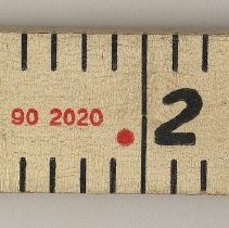 Image of detail of maker's model number and product name
