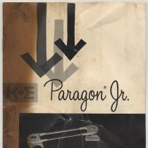 Image of Paragon Jr. [drafting machine] Instructions for Mounting & Adjusting. Issued by Keuffel & Esser, Morristown, N.J., cpyrt. 1961 & 1964; issued after Dec.1968. - Pamphlet
