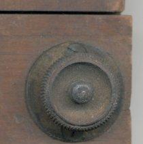 Image of detail back: knob