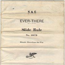 Image of K & E Ever-There Slide Rule No. 4097D. Simple Instructions for Use. Published by  Keuffel & Esser Co., New York & Hoboken. Cpyrt 1937. - Manual, Training