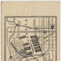 Image of back: map with travel routes; Continental Hotel & Passenger Transfer Co.