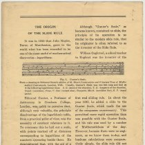 Image of Vol 1, No. 2, pg [4]: Origin of the Slide Rule