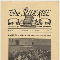 Image of Vol 1, no. 4, page [1]: Woman Teachers Make Use of the Slide Rule