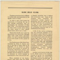 Image of Vol. 1, No 4., pp [4]: Slide Rule Clubs