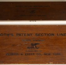 Image of Both's Patent Section Liner & Scale Divider, no. 1159, made by Keuffel & Esser Co. N.Y., n.d., ca.1891-1894. - Liner, Section