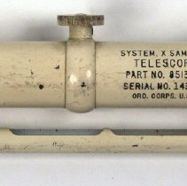 Image of Telescope, Keuffel & Esser Co. 5010 made for experimental surface-to-air missile system, n.d, ca. 1947-1951. - Telescope
