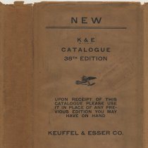 Image of Catalogue of Keuffel & Esser Co., New York; 38th edition. 1936. - Catalog
