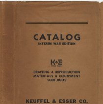 Image of Catalogue of Keuffel & Esser Co., N.Y. & Hoboken; 39th Edition; Interim Edition War Catalog. Issued Aug. 1943. - Catalog