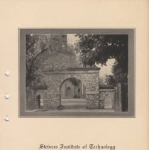 Image of leaf 1: title; view of the south facade of Gatehouse, entry to Castle Point