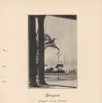 Image of leaf 3: Program, June 9th; view of Hudson River & N.Y. from Stevens Castle