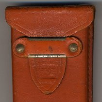 Image of detail leather case
