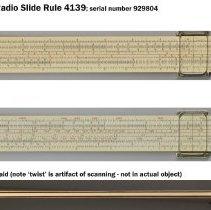 Image of Cooke Radio Slide Rule, model 4139, made by Keuffel & Esser Co., n.d., ca. 1955-1956. - Rule, Slide