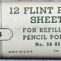 Image of package of 12 flint sheets; 58 0538