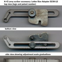 """Image of views of letter size adapter 3238-12 (overall length 2-1/4"""")"""
