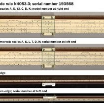 """Image of Slide rule, Polyphase (Mannheim), N4053-3, 10"""", made by Keuffel & Esser Co., N.Y. ca. 1927-1928. - Rule, Slide"""