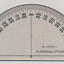Image of Semicircular Protractor no. V1276-4, made by Keuffel & Esser Company, N.Y., n.d., ca.1950-1965. - Protractor