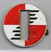 Image of Rod target for folding rule made by Keuffel & Esser Co., no date, circa 1960-1965. - Target, Rod