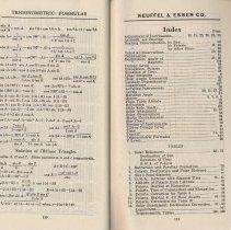 Image of pp 110-111: formulas; Index & tables