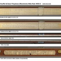 Image of Polyphase (Mannheim) Slide Rule 4053-3