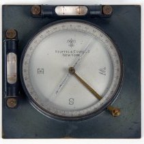 """Image of compass, 5"""" x 5"""" with two bubble levels"""