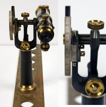 Image of back (sighting) end with detail of vernier