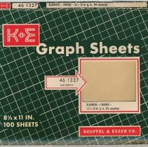 Image of Carton for K&E Albanene graph sheets 46 1327; old 359T-11. Made & sold by Keuffel & Esser Co., [Hoboken], n.d, ca. 1956-1966. - Carton