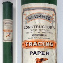 Image of Paper: Constructor's Tracing Paper, No. 334-1/2TG, cross section, 50 yd. roll, made by Keuffel & Esser Co., N.Y., n.d., ca. 1944-1954. - Paper