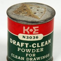 Image of K&E Draft-Clean Powder, N3036, distributed by Keuffel & Esser Co., n.d., 1954-1960. - Can