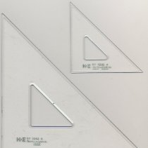 Image of Triangle, 2, 45-degree Luxylite sold by Keuffel & Esser, N.Y.-Hoboken, n.d., ca. 1965-1975. - Triangle, 45-45-90