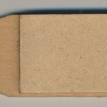 Image of Pencil pointer, K&E (Keuffel & Esser); sandpaper pad on wooden stick