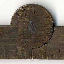 Image of detail rule hinge inside (protractor markings)