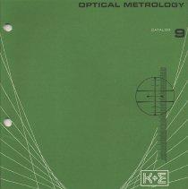 Image of Optical Metrology, Catalog 9, K&E. Keuffel & Esser Co., N.Y. & Hoboken, [43rd edition], 1962. - Catalog