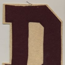 "Image of Demarest High School felt insignia patch ""D"""