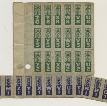 Image of enclosure of coupons from another ration book 1 of 2