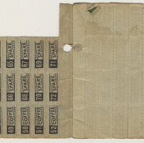 Image of enclosure of coupons from another ration book 2 of 2