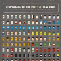 Image of Ship Stacks of the Port of New York 1974.