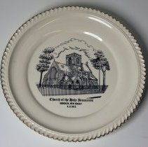 Image of Commemorative plate: Church of the Holy Innocents, Hoboken, New Jersey, A.D. 1972. - Plate, Commemorative