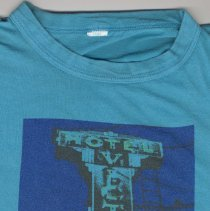 Image of T-shirt: Hotel Victor; This is Displacement; Where will these men go? (Hoboken), n.d., ca.1987-1992. - T-shirt