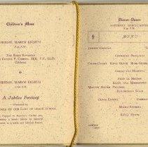 Image of pp [4-5]: Children's Mass; A Jubilee Fantasy; Dinner-Dance, Menu