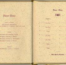 Image of pp [6-7]: Dinner Dance, guests & speaker; Dance Order