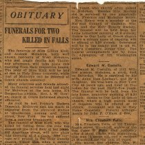 Image of Newspaper clipping, obituary, for death of Mrs. Anne M. Henry, 716 Bloomfield St., Hoboken, no date, ca. 1930s. - Documents