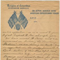 Image of letter 6, pg 2 of 2: from Chaplain Joseph Kelly, A.E.F., June 2, 1919.