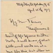 Image of letter 2, pg 1: A.C. Marion Campbell, Hoboken, April 15, 1919