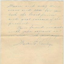 Image of letter 3, page 3 of 3: Martin Henley, Mt. Carmel, Ill, April 22, 1919