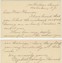 Image of letter 4, front & back: from Elizabeth Howard, Hoboken, Apr. 29, 1919